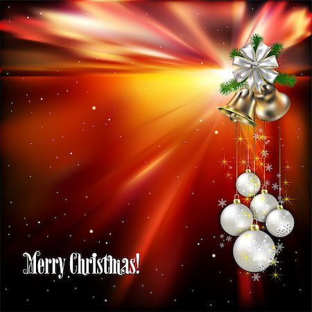 Christmas background with white decorations and handbells Stock Photo - Budget Royalty-Free & Subscription, Code: 400-07216065