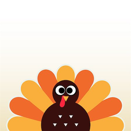 Happy Thanksgiving day card with copyspace. Vector Illustration Stock Photo - Budget Royalty-Free & Subscription, Code: 400-07218919