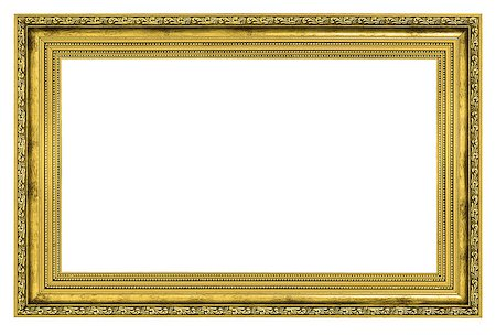 gilded frame with thick border isolated on white background Stock Photo - Budget Royalty-Free & Subscription, Code: 400-07210798