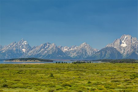 The amazing Teton mountains above Jackson Lake in Wyoming, USA. Stock Photo - Budget Royalty-Free & Subscription, Code: 400-07211142