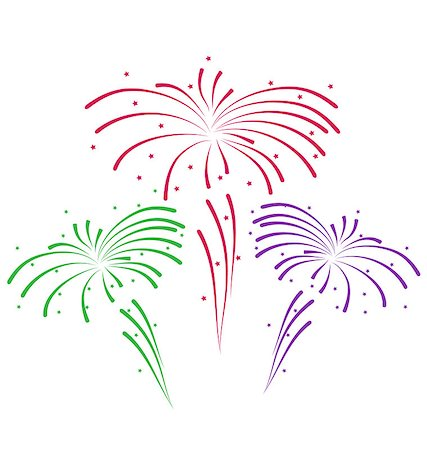 Illustration sketch for abstract colorful firework - vector Stock Photo - Budget Royalty-Free & Subscription, Code: 400-07213298