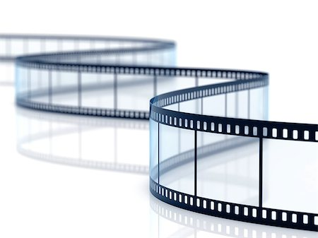 film strip - 3d render of film strip on white background Stock Photo - Budget Royalty-Free & Subscription, Code: 400-07224158