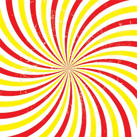 Retro vintage grunge hypnotic background.vector illustration Stock Photo - Budget Royalty-Free & Subscription, Code: 400-07222259