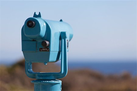 scope - picture of seaside binoculars with nobody using them Stock Photo - Budget Royalty-Free & Subscription, Code: 400-07222614