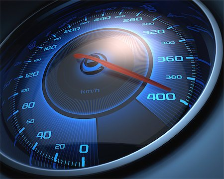 Speedometer scoring high speed. The limit of speed. Stock Photo - Budget Royalty-Free & Subscription, Code: 400-07223932