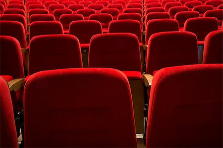 Red seats in a theater and opera Stock Photo - Budget Royalty-Free & Subscription, Code: 400-07244779
