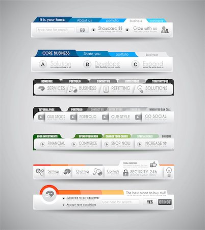 Quality clean web elements for blog and sites. Icons, header, carousel, infographics and a lot of icons. Stock Photo - Budget Royalty-Free & Subscription, Code: 400-07249215