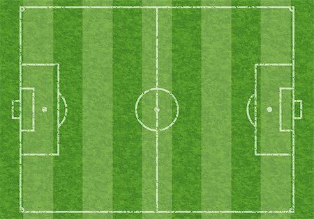 Textured Soccer Field with Marking, vector illustration Stock Photo - Budget Royalty-Free & Subscription, Code: 400-07249635