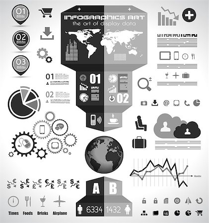 report icon - Infographic elements - set of paper tags, technology icons, cloud cmputing, graphs, paper tags, arrows, world map and so on. Ideal for statistic data display. Stock Photo - Budget Royalty-Free & Subscription, Code: 400-07254662