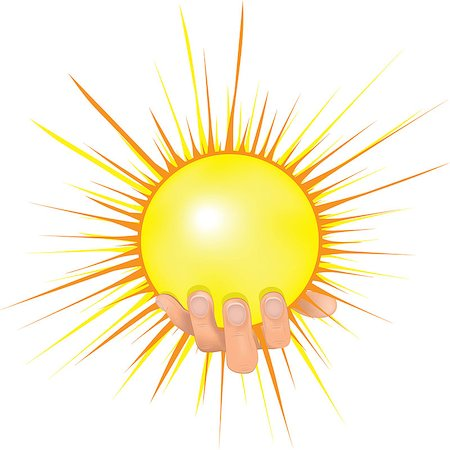 svetap (artist) - Sun in people hand vector illustration. Human hold shining sun and giving peace. Concept image of solar energy, investment, bright successful future, globalization, ecology, green technology for new generation Stock Photo - Budget Royalty-Free & Subscription, Code: 400-07251261