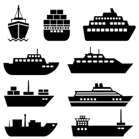 soleilc (artist) - Ship and boat icon set Stock Photo - Budget Royalty-Free & Subscription, Code: 400-07264496