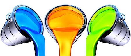 pouring paint art - high resolution 3D rendering of a color concept Stock Photo - Budget Royalty-Free & Subscription, Code: 400-07266257