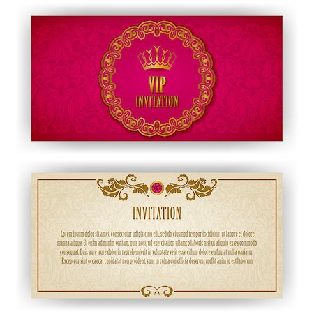 Elegant template luxury invitation, card with lace ornament, place for text. Floral elements, ornate background. Vector illustration EPS 10. Stock Photo - Budget Royalty-Free & Subscription, Code: 400-07260515