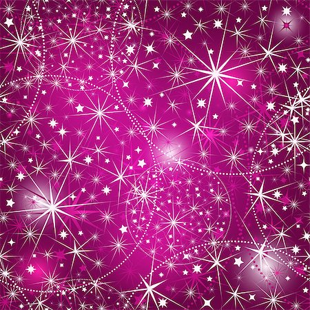 pink and purple fireworks - Seamless purple christmas pattern with stars and vivid pink spots (vector EPS 10) Stock Photo - Budget Royalty-Free & Subscription, Code: 400-07260749