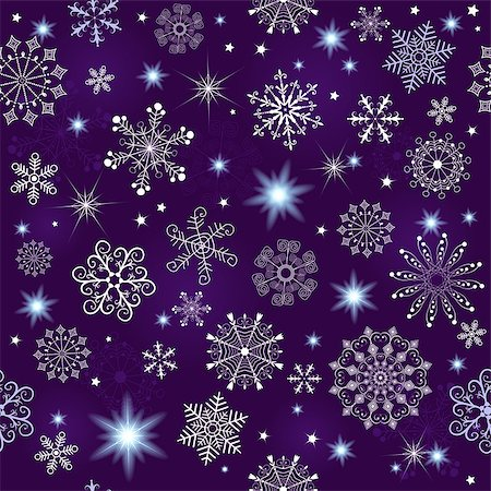 pink and purple fireworks - Seamless violet christmas pattern with snowflakes and stars(vector eps 10) Stock Photo - Budget Royalty-Free & Subscription, Code: 400-07261350