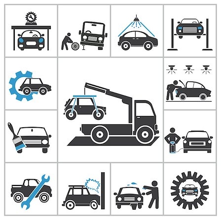 Auto repair icons. Vector set for you design Stock Photo - Budget Royalty-Free & Subscription, Code: 400-07261766