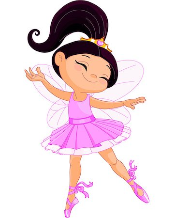 Illustration of a happy little fairy ballerina Stock Photo - Budget Royalty-Free & Subscription, Code: 400-07272660