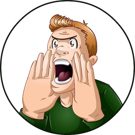 A vector illustration of an angry guy shouting. Stock Photo - Budget Royalty-Free & Subscription, Code: 400-07297190