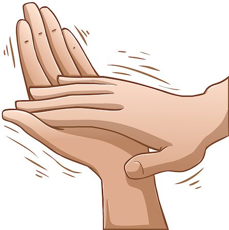 A vector illustration of clapping hands. Stock Photo - Budget Royalty-Free & Subscription, Code: 400-07297191