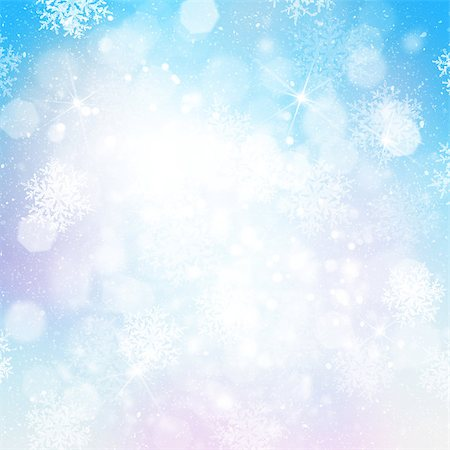 sparks with white background - Blurred bokeh christmas background with snowflakes Stock Photo - Budget Royalty-Free & Subscription, Code: 400-07299343