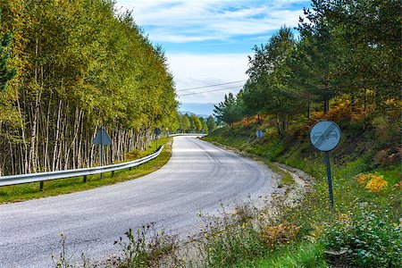 road landscape - Roadside view of beautiful park on blue sky Stock Photo - Budget Royalty-Free & Subscription, Code: 400-07290911