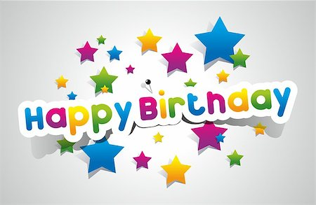 fun happy colorful background images - Happy Birthday Card vector illustration Stock Photo - Budget Royalty-Free & Subscription, Code: 400-07292834