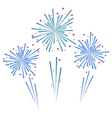 fireworks illustrations - Illustration sketch abstract colorful exploding firework - vector Stock Photo - Budget Royalty-Free & Subscription, Code: 400-07306032