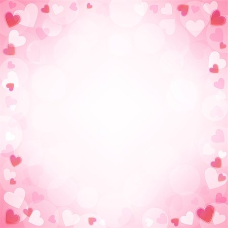 simsearch:400-04863562,k - Vector background with beautiful pink hearts Stock Photo - Budget Royalty-Free & Subscription, Code: 400-07306106