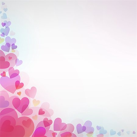 simsearch:400-04863562,k - Vector background with beautiful hearts Stock Photo - Budget Royalty-Free & Subscription, Code: 400-07306107