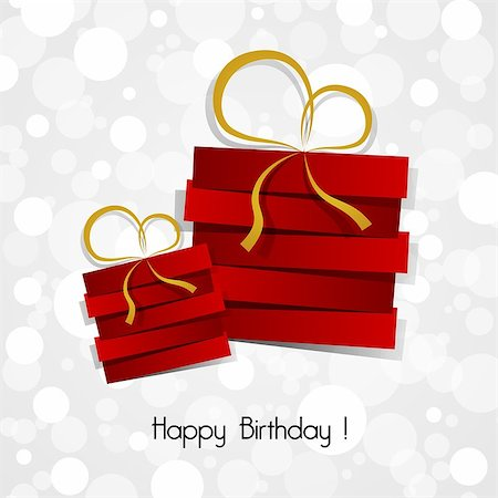 Happy Birthday Card vector illustration Stock Photo - Budget Royalty-Free & Subscription, Code: 400-07307744