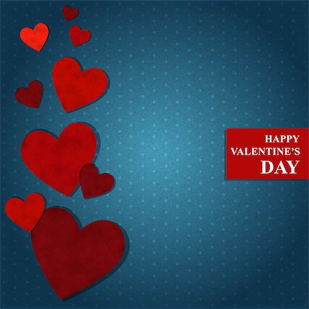 simsearch:400-04863562,k - Vector illustration with red hearts by Valentine's Day Stock Photo - Budget Royalty-Free & Subscription, Code: 400-07307824