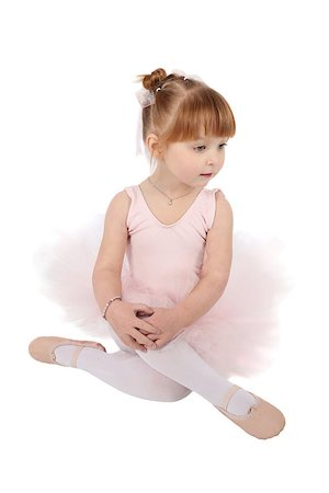 Toddler ballet girl in pink against white background Stock Photo - Budget Royalty-Free & Subscription, Code: 400-07302638