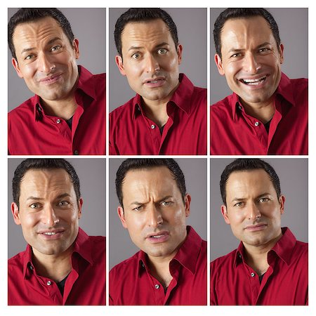 An image of six different male expression Stock Photo - Budget Royalty-Free & Subscription, Code: 400-07317927