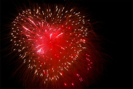 Fireworks in the night sky in the form of heart . Stock Photo - Budget Royalty-Free & Subscription, Code: 400-07318321