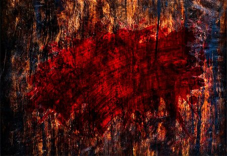 dripping blood backgrounds - red paint on wood Stock Photo - Budget Royalty-Free & Subscription, Code: 400-07327670