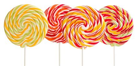 red circle lollipop - colorful lollipops on white background Stock Photo - Budget Royalty-Free & Subscription, Code: 400-07320053