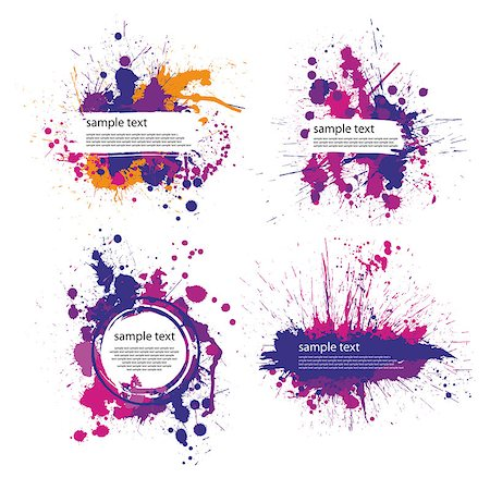 paint dripping graphic - color index blot Stock Photo - Budget Royalty-Free & Subscription, Code: 400-07338326