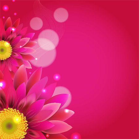 florist vector - Pink Background With Gerbers, With Gradient Mesh, Vector Illustration Stock Photo - Budget Royalty-Free & Subscription, Code: 400-07330486