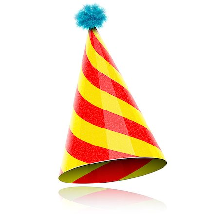 party celebration paper confetti - Colorful Glossy Hat For Celebration. Vector Illustration. Stock Photo - Budget Royalty-Free & Subscription, Code: 400-07331008