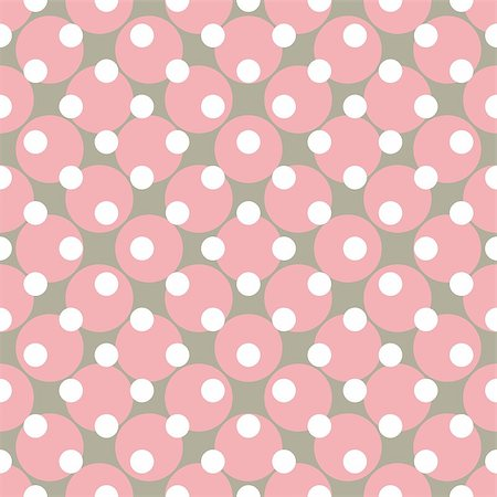 Seamless vector pattern with polka dots. Colorful background in white, grey and pink for website design and desktop wallpaper. Stock Photo - Budget Royalty-Free & Subscription, Code: 400-07405731