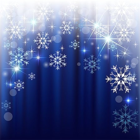 Christmas background with blue curtain and white snowflakes.Mesh.This file contains transparency.EPS 10. Stock Photo - Budget Royalty-Free & Subscription, Code: 400-07408983