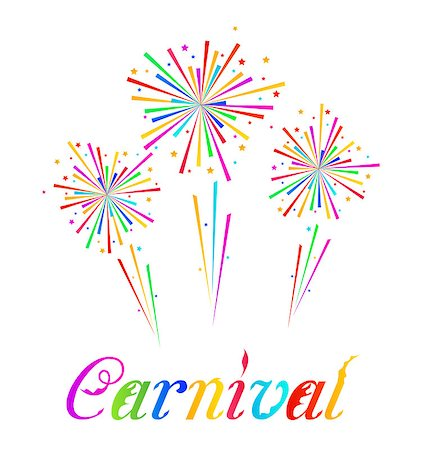 fireworks illustrations - Illustration sketch abstract colorful exploding firework for Carnival party - vector Stock Photo - Budget Royalty-Free & Subscription, Code: 400-07409389