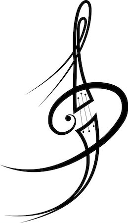 music tattoo in my interpretation , author work Stock Photo - Budget Royalty-Free & Subscription, Code: 400-07409972