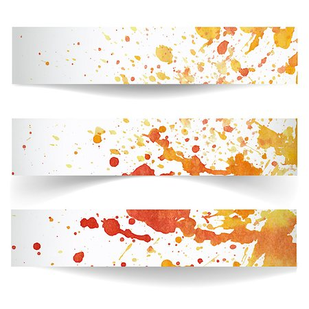 drop painting splash - Set of horizontal banners.The illustration contains transparency and effects. EPS10 Stock Photo - Budget Royalty-Free & Subscription, Code: 400-07415032