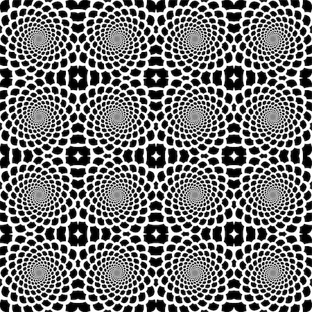 snake skin - Design seamless monochrome helix movement snakeskin pattern. Abstract background in op art style. Vector art Stock Photo - Budget Royalty-Free & Subscription, Code: 400-07415319