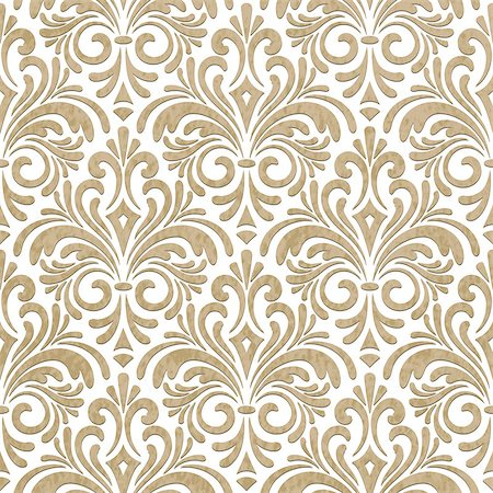 Vector seamless floral paper cut pattern beige background, seamless pattern in swatch menu Stock Photo - Budget Royalty-Free & Subscription, Code: 400-07416542