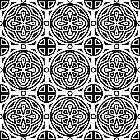 Vector seamless geometric monochrome pattern, seamless pattern in swatch menu Stock Photo - Budget Royalty-Free & Subscription, Code: 400-07418651