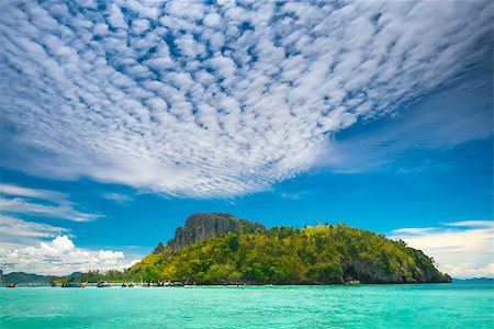 landscape of tropical island beach with perfect sky Stock Photo - Budget Royalty-Free & Subscription, Code: 400-07410511
