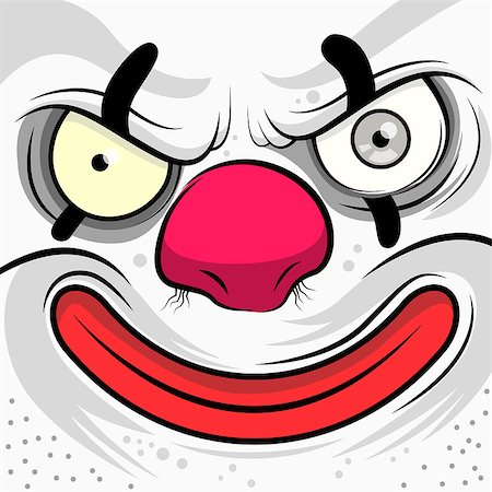 Square Faced Evil Clown - Vector illustration Stock Photo - Budget Royalty-Free & Subscription, Code: 400-07411358