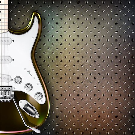 sheet music background - abstract grunge background with electric guitar on brown Stock Photo - Budget Royalty-Free & Subscription, Code: 400-07411582